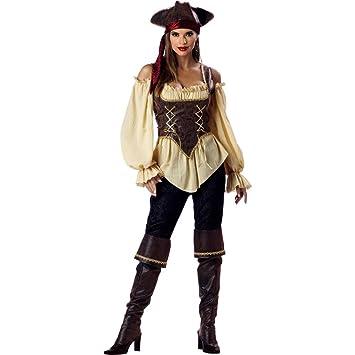 Disfraz de Pirata elegante para mujer -Premium S: Amazon.es ...