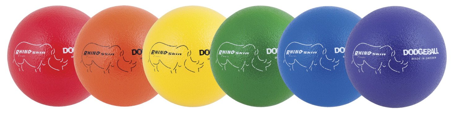 Champion Sports 6-Pc Rhino Skin Dodge Balls Set by Champion Sports