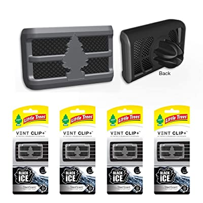 Little Trees CTK-52431-24 4 Pack Vent Clip Black Ice (1-Pack), 4 Pack: Automotive