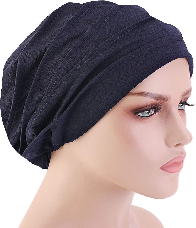 Bobel Women Chemo Ruffles Headwear Sleep Cap Cotton Ladies Turban Beanie Hat for Hair Loss Cancer
