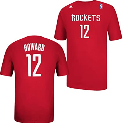 55a4f1cce Dwight Howard Houston Rockets  12 Red Youth NBA Net Name   Number Tee (Large