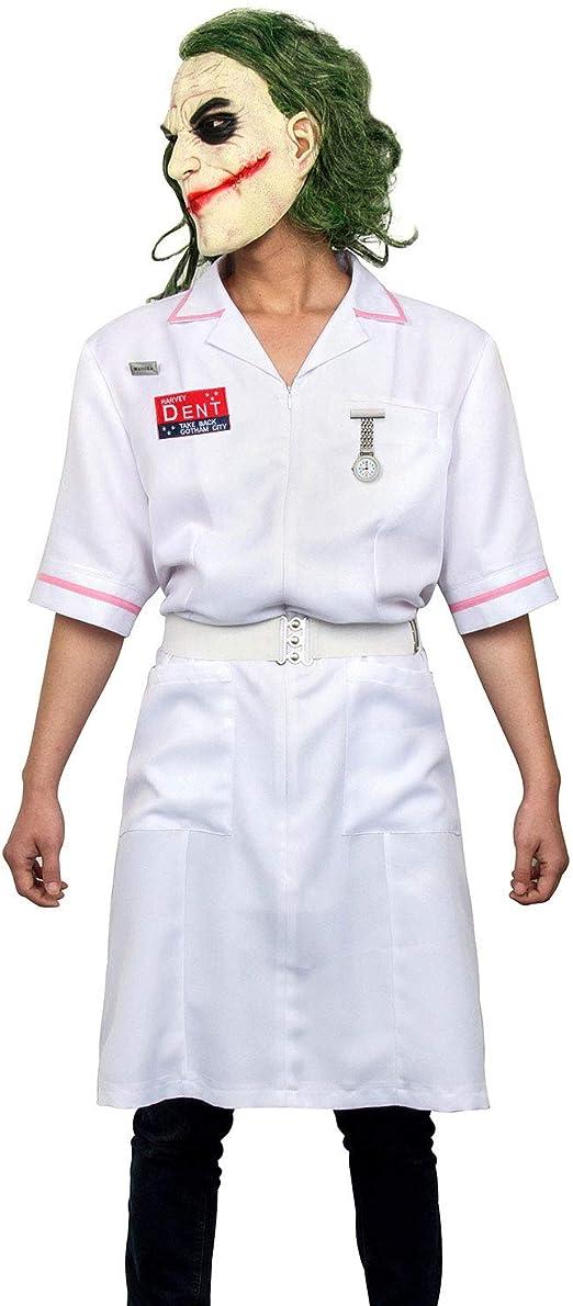 NUWIND Disfraz de Payaso Enfermera Joker Nurse Hombres Dent ...