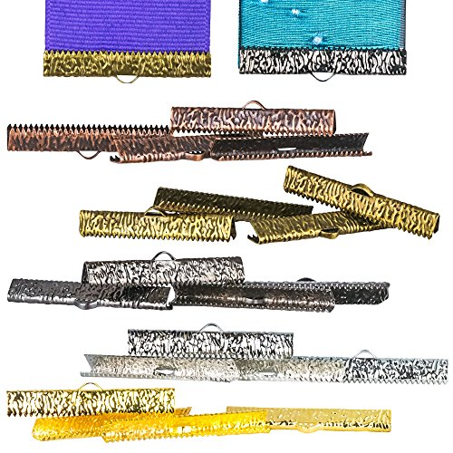 Twilights Fancy 20 pcs. - 38mm or 1 1/2 inch Mixed Finish Ribbon Clamps - Artisan Series