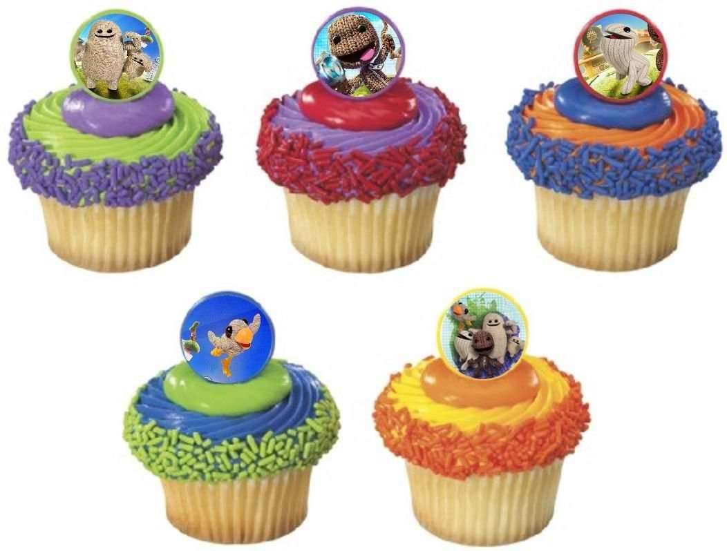 Remarkable 12 Little Big Planet 3 Cupcake Rings Birthday Party Favor Pinata Birthday Cards Printable Riciscafe Filternl