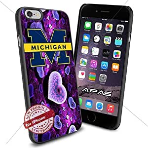 Michigan Wolverines NCAA ,Cool Iphone 6 Smartphone Case Cover Collector iphone TPU Rubber Case Black color [ Original by WorldPhoneCase Oly ]