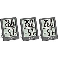 DOQAUS 3-pack Inomhus Termometer, Digital Inomhushygrometer med Komfortnivå, Rumstermometer, Mini Temperaturvakt och…