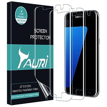 TAURI Protector de Pantalla para Samsung Galaxy S7 Edge [3 Pack ...