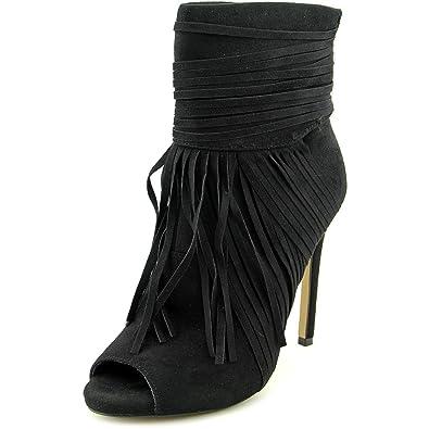 Womens Kaili Peep Toe Ankle Fashion Boots