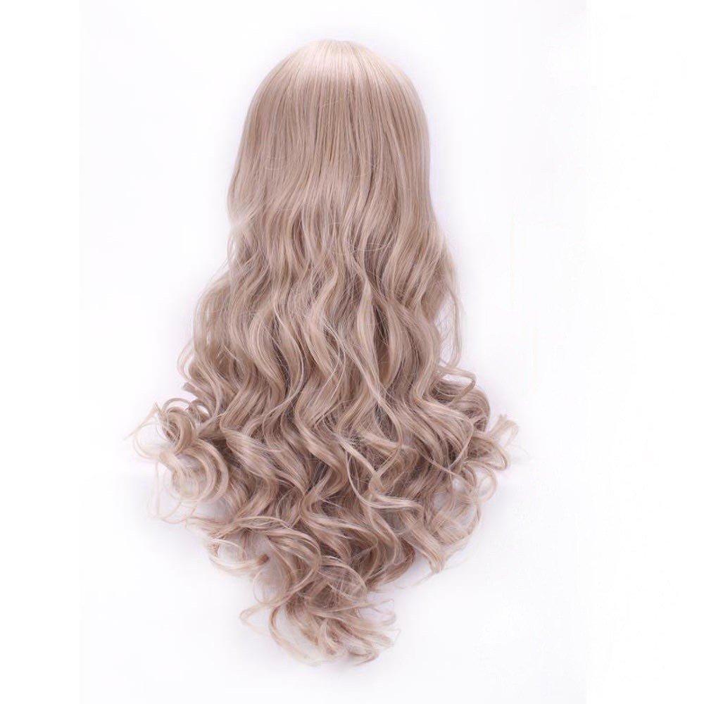 Muy Alta Calidad Cenicienta Adulto peluca con ondas Rubio: Amazon.es: Belleza
