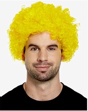 CLOWN WIG CURLY HAIR FUNKY MULTICOLOUR MEN