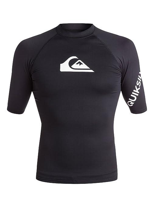 Quiksilver - Licra de Surf de Maga Corta UPF 50 - Hombre - XS - Negro