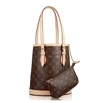6b9d701f3757 Authentic Louis Vuitton Petit Bucket Monogram Canvas Shoulder Bag Handbag  Article  M42238  Handbags  Amazon.com