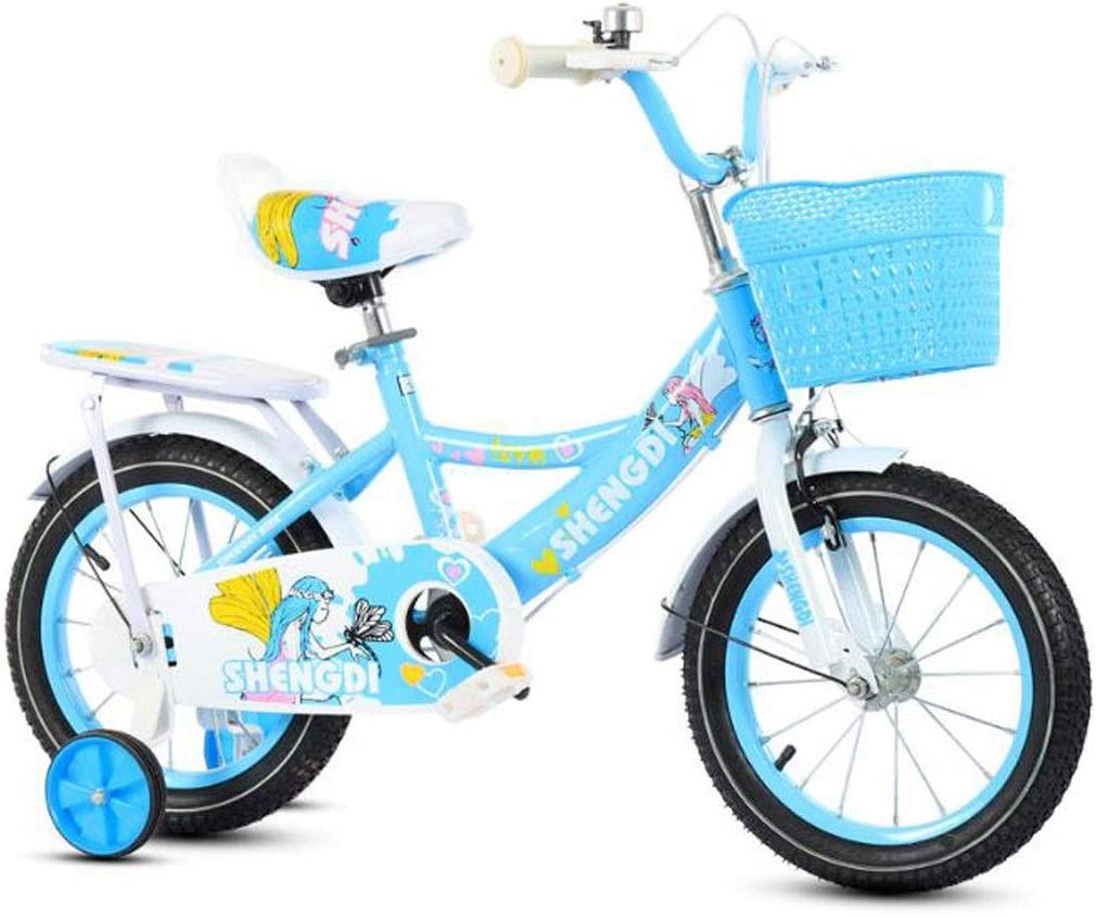 """KY Bicicleta niños Balance Bike Ajustable de Bicicletas for niños de 2-8 años Bicicleta de Entrenamiento del niño con los Frenos auxiliares de Ruedas Dobles, Son de tamaño 12"""", 14"""", 16"""": Amazon.es:"""
