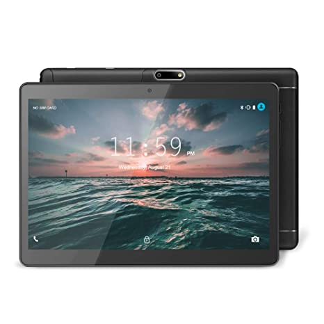 YUNTAB Tablet Android 9.6 Pulgadas, 3G WiFi PC Quad-Core, 1 GB de RAM y 16 GB de ROM, Doble Ranuras de Tarjeta, Pantalla táctil IPS,Bluetooth (Negro)
