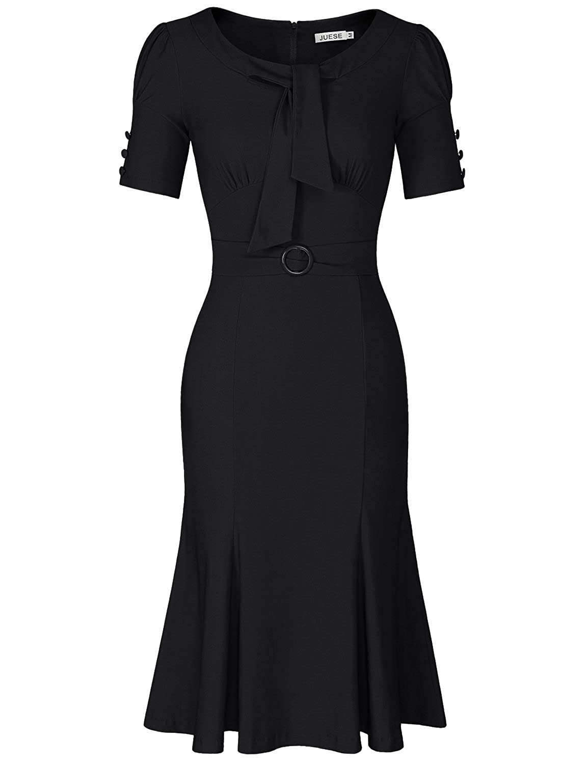 1940s Cocktail, Pin up and Bombshell Dresses Guide Formal or Casual Party Pencil Dress $32.99 AT vintagedancer.com