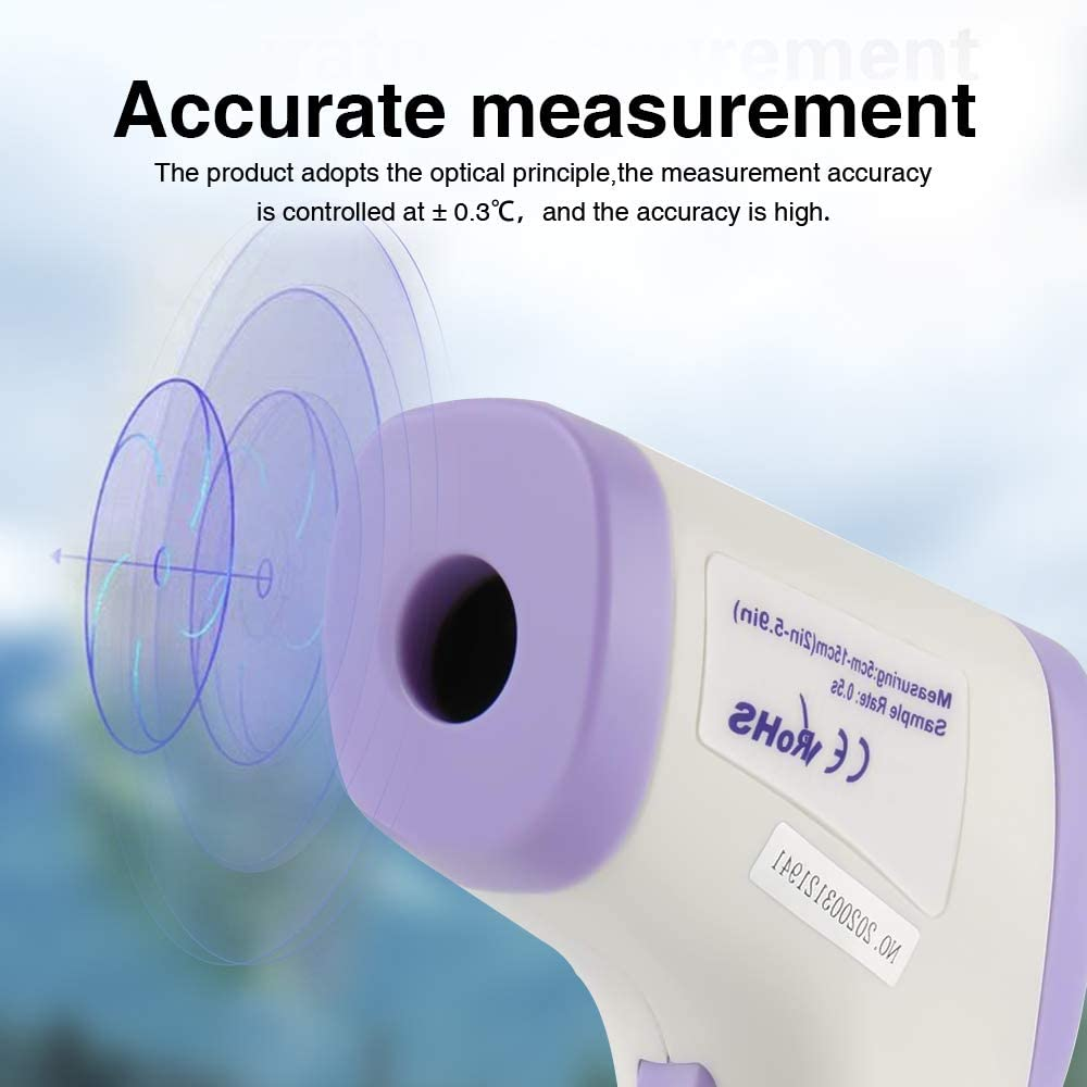 Term/ómetro M/édico Infrarrojo Digital 3 en 1 para Beb/és Adultos y Objetos de Superficie SR21 Term/ómetro Frente sin Contacto con Alarma de Fiebre Term/ómetro Infrarrojo