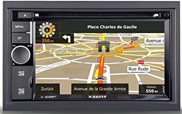 Xzent X302bt Mk2 2 Din Naviceiver Mit Bluetooth X 302bt Mk2 Navigation