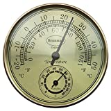 Thermometer Hygrometer Gilt Dial Garden Greenhouse Home Office - Measures Temperature and Humididty