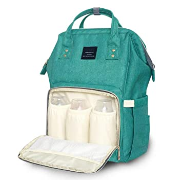 LCY Baby Nappy Changing Bag Backpack Muti-Functional for Travelling and Daily Use Black