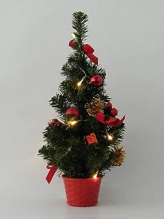 Dekoration Weihnachtsbaum.Best Season Weihnachtsbaum 10 Warmweisse Led Dekoration Plastik Grün 18 X 18 X 45 Cm