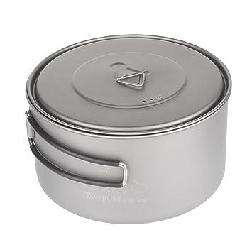 Tentock 2 – 3 persona titanio ultraligero Camping cocina 3 en 1 copa Pot Pan portátil