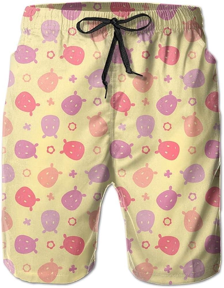 Horizon-t Beach Shorts Rhino Mens Fashion Quick Dry Beach Shorts Cool Casual Beach Shorts