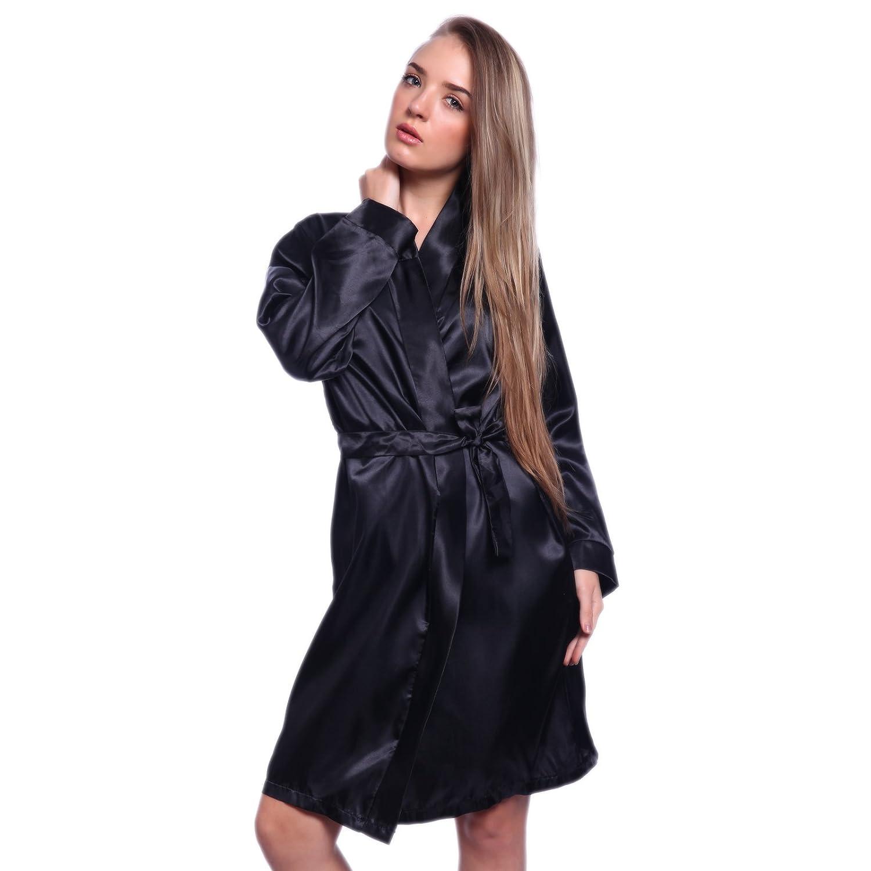 Lingerie robe de chambre nuisette babydoll 2 pieces dentelle satin