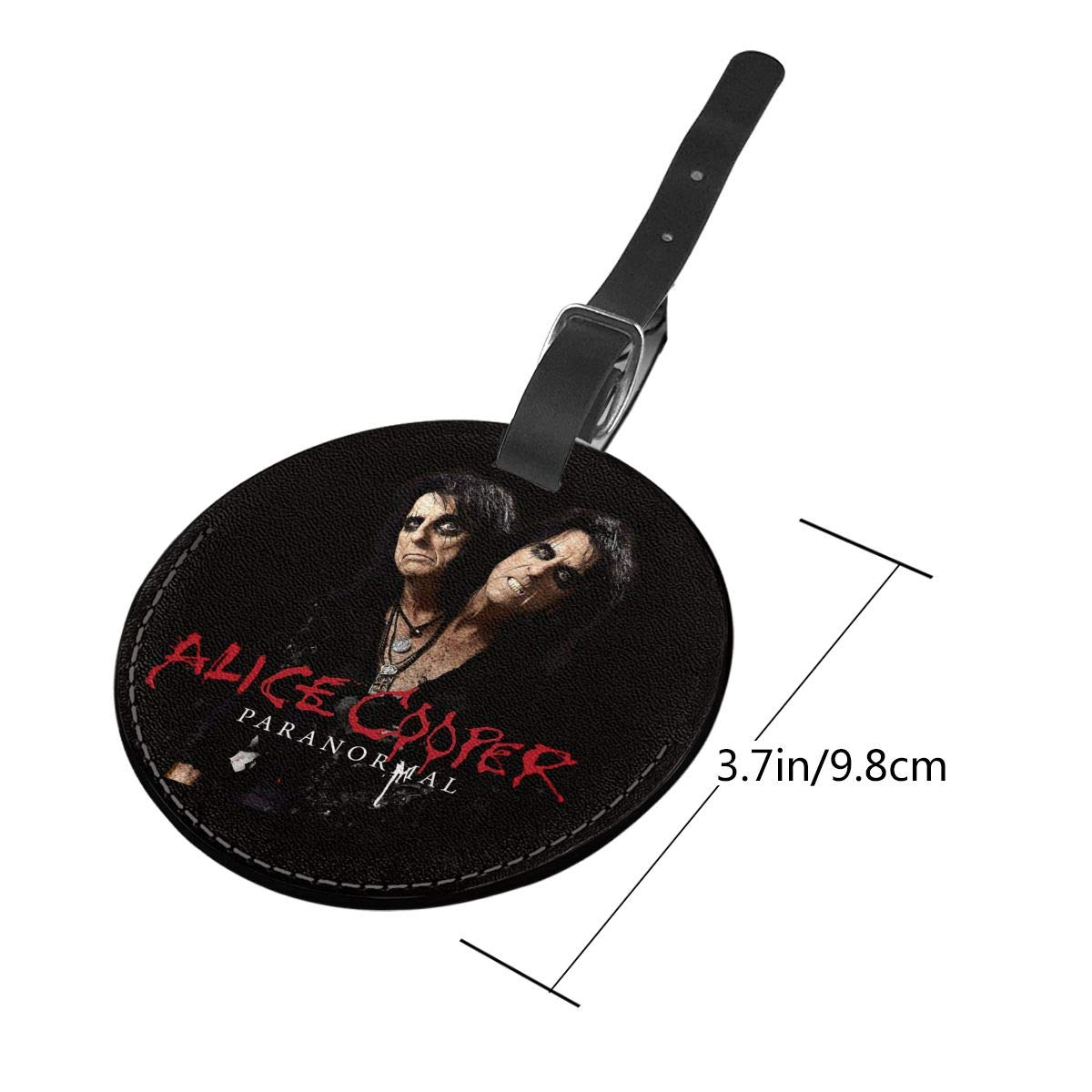 Alice Cooper Paranormal Travel Leather Round Luggage Tags Suitcase Labels Bag