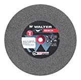 Walter Bench Grinding Wheel, Type 1, Round Hole, Aluminum Oxide, 8'' Diameter, 1'' Thick, 1'' Arbor, Grit 46 Medium (Pack of 1)