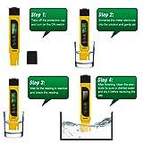 TDS Meter, Sonkir 3-in-1 TDS/EC/Temp Meter, Digital