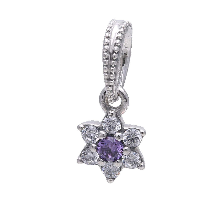 e33d7e142 Amazon.com: PANDORA Forget Me Not Purple Dangle 791833ACZ: Jewelry