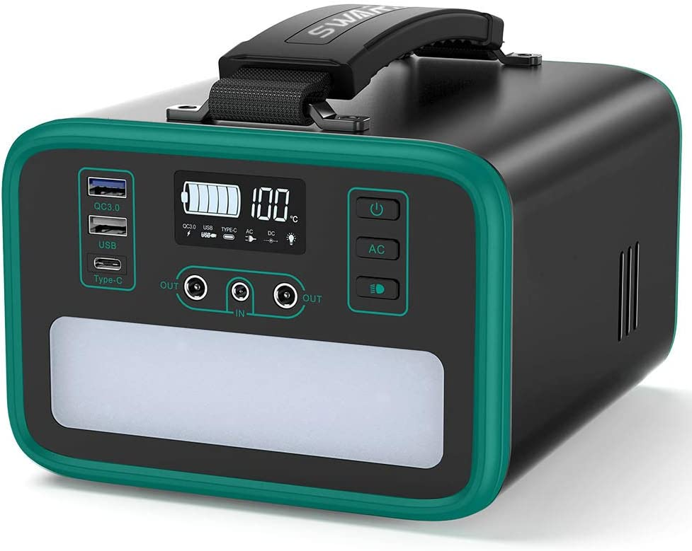 Portable Power Station 240Wh/75000mAh Lithium Iron Phosphate LiFePO4 Backup Battery, 200W Pure Sine Wave AC Outlet, 3500 Cycles 10 Years Life, 60W PD USB-C, Solar Generator for CPAP Outdoors Emergency