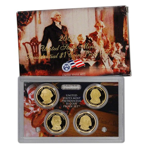 Madison Mint Dollar - 2007 S US Mint Presidential $1 Coin Proof Set OGP