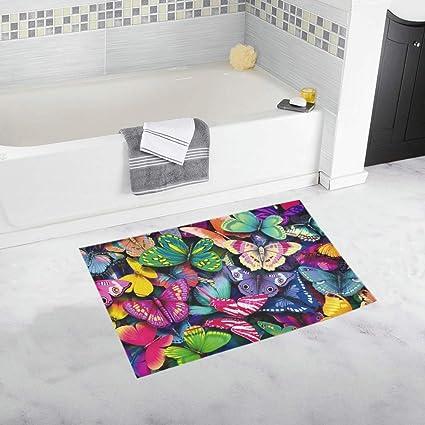 . Amazon com  Lots Colorful Butterflies Hd Wallpaper X Custom Non Slip