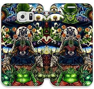 Samsung Galaxy S6 Funda, GIORNNHUS5727 Samsung Galaxy S6 Flip Funda, Lujo Manera Cuero PU Flip Funda cubierta para Samsung Galaxy S6 (Dragon Ball Z)