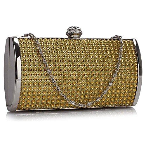 Gala Accessories - Cartera de mano para mujer dorado dorado