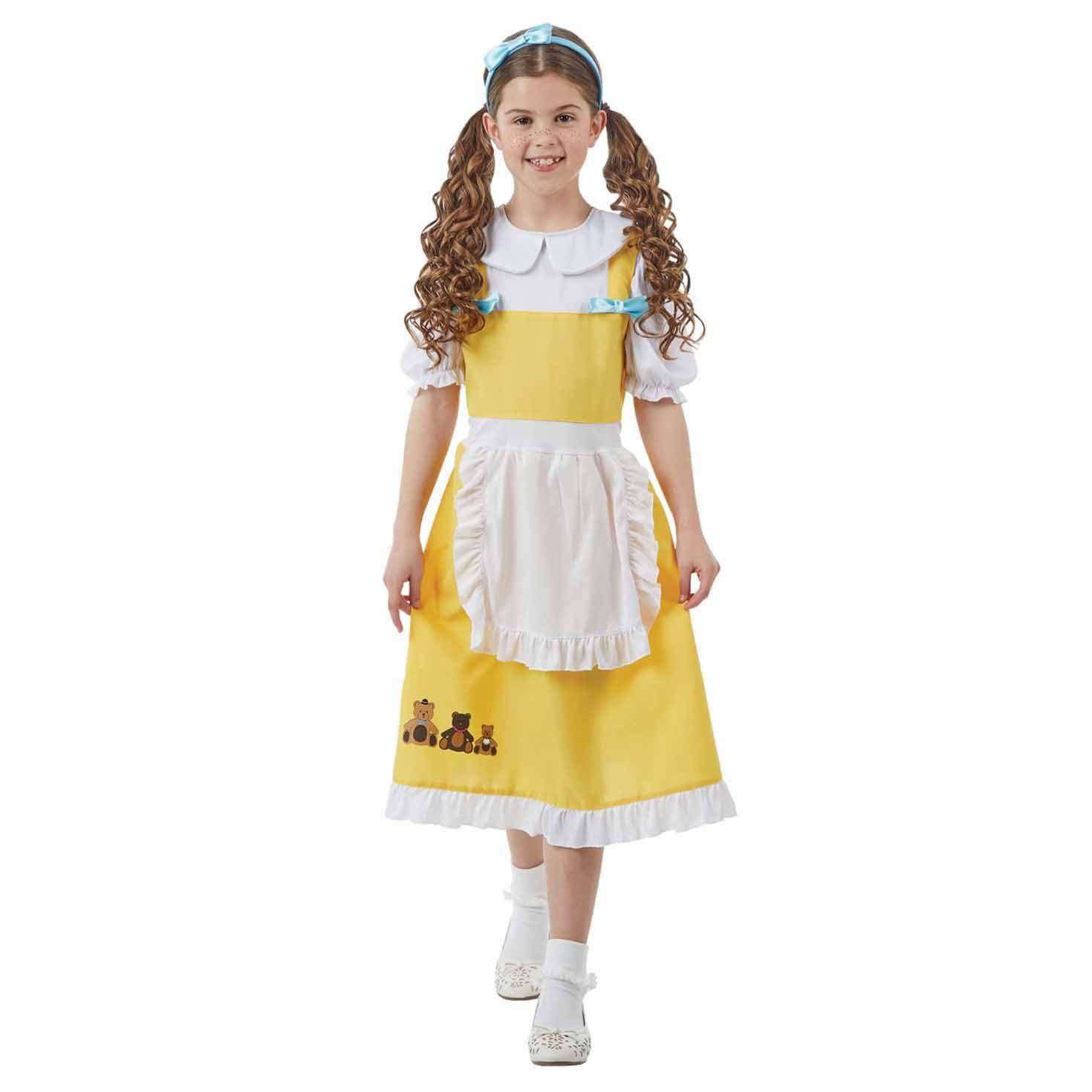 Ladies Goldilocks Fairy Tale Costume Story Book Week 3 Bears Fancy Dress