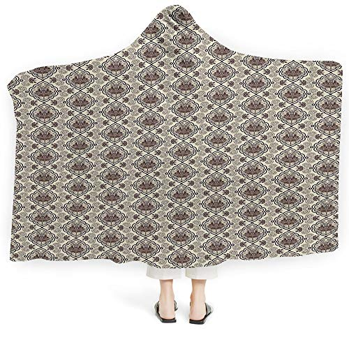 Dwellstudio Squares - Baby Hooded Blanket Boys Girls Feather House Decor Soft Fluffy Minky Warm Cover Relieves Anxiety Stress Insomnia Different Vane Feather Figures Types on Square Shape Striped Backdrop Print (Kids 5
