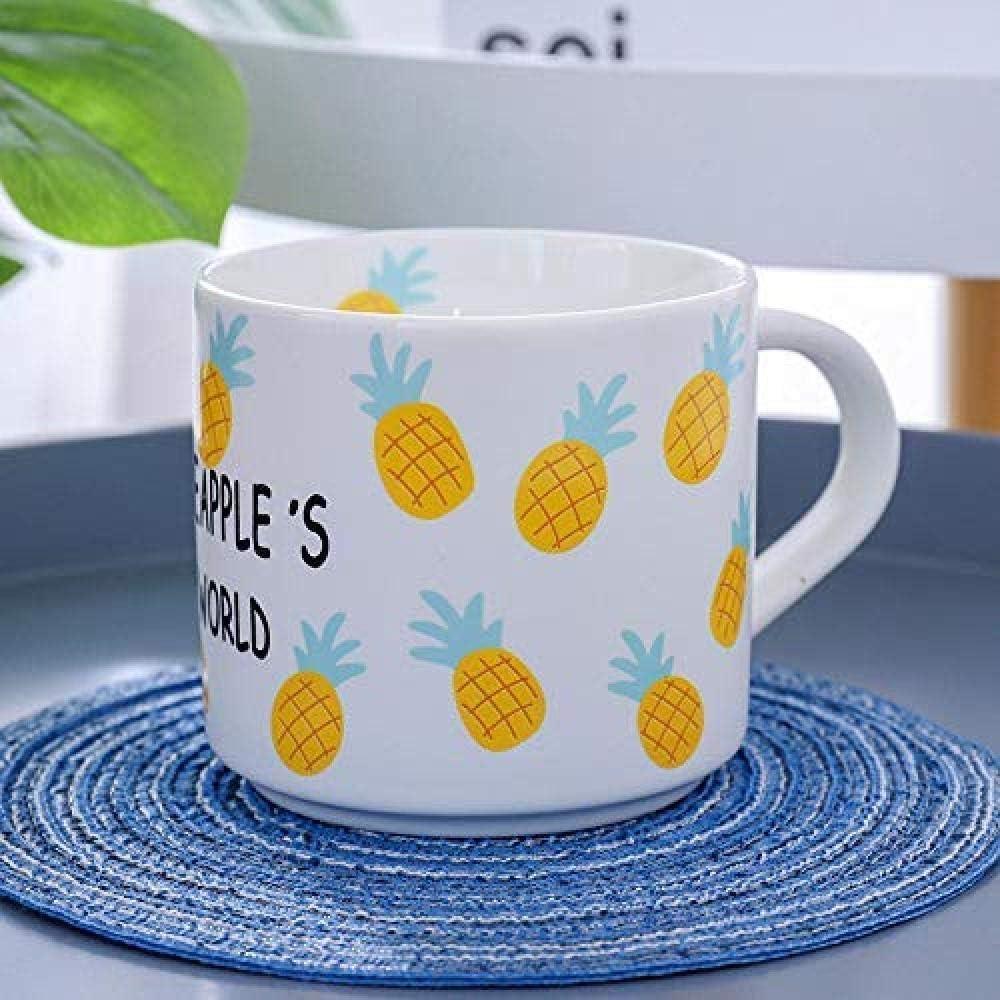 葉巻灰皿, パイナップルマグカップミルクミルクティーコーヒーカップコップのギフトオフィスカップスクラブ広口黄色大根
