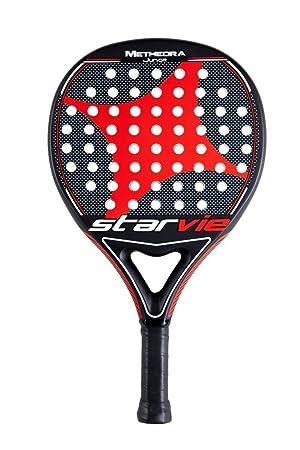 Star vie Metheora Jr 2018 Pala de pádel de Tenis, Hombre, Negro/Rojo, 0.36: Amazon.es: Deportes y aire libre