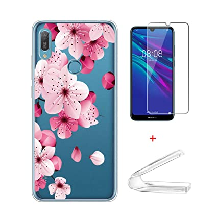 Amazon.com: IJIA Case Huawei Y6 2019 Transparent Cover + 2X ...