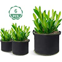 Plant Grow Bags Heavy Duty Aeration Fabric Pots Thickened Nonwoven Fabric Pots with Handles for Vegetable/Flower/Nursery