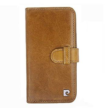 Pierre Cardin Funda Billetera iPhone XS iPhone X, Desmontable Piel Genuina Billetera & Caso Combo