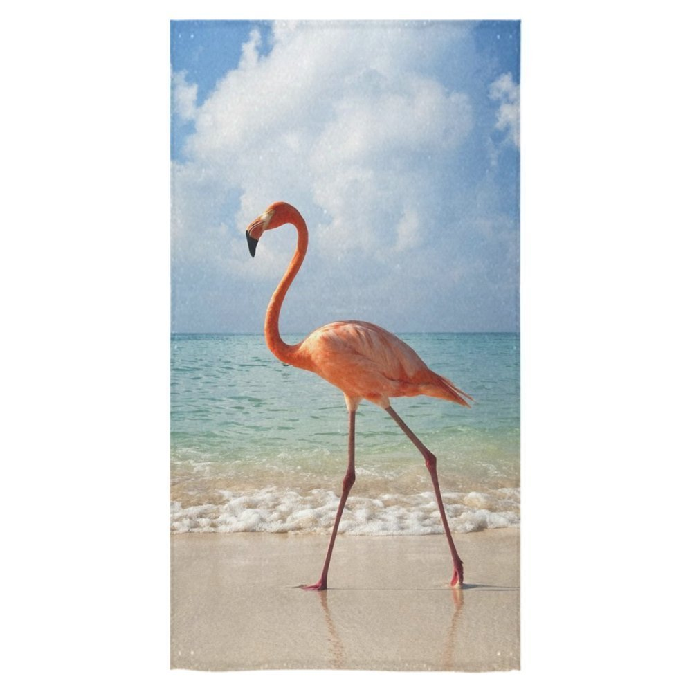 Modern Design Beach Towel Beautiful Flamingo On The Beach 27 x 54 Inches by Travel (Image #1)