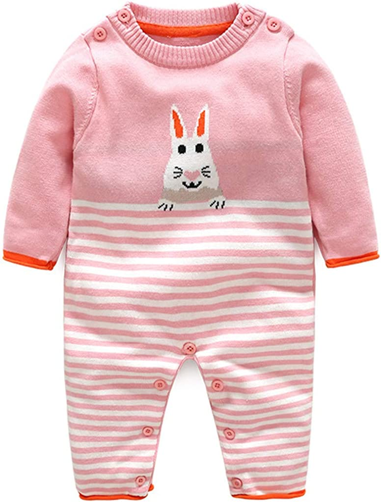 r.b.hickory Baby Rompers Knitted Junpsuit Cotton Onsise Sweaters for 3-18 Months