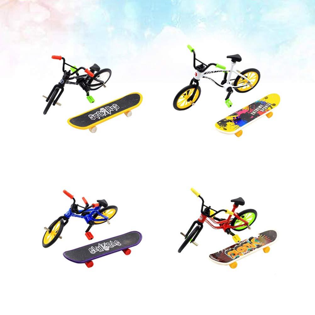 Zuf/ällige Farbe YeahiBaby Finger Fahrrad mit Skateboard f/ür Jungen Kinder Geburtstag Geschenk 1 Satz