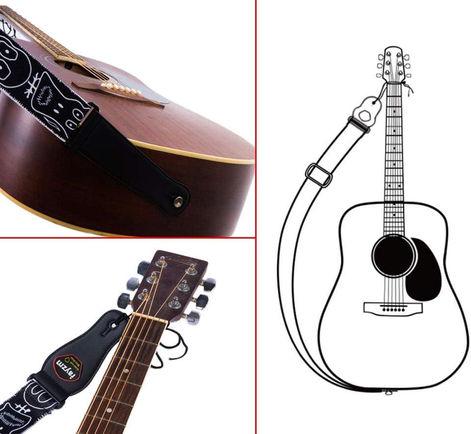 Rayzm Correa de la Guitarra y Bajo, Correa de Polyester para ...
