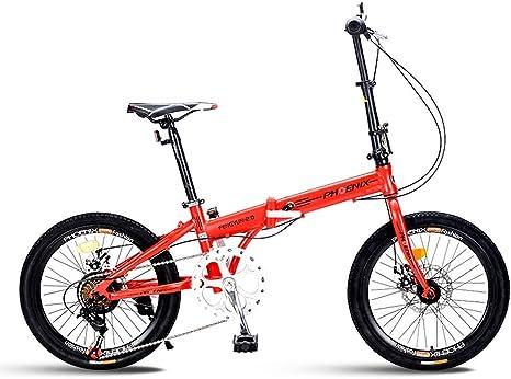 Xiaoping Bicicleta Plegable de 20 Pulgadas, 7 Hombres y Mujeres ...