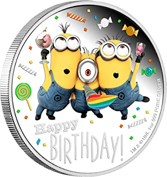 Power Coin Happy Birthday Cumpleanos Minion Made 1 Oz Moneda ...