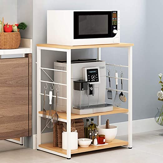 Amazon.com: Microwave Stands for Kitchens, FOME 3 Tier ...